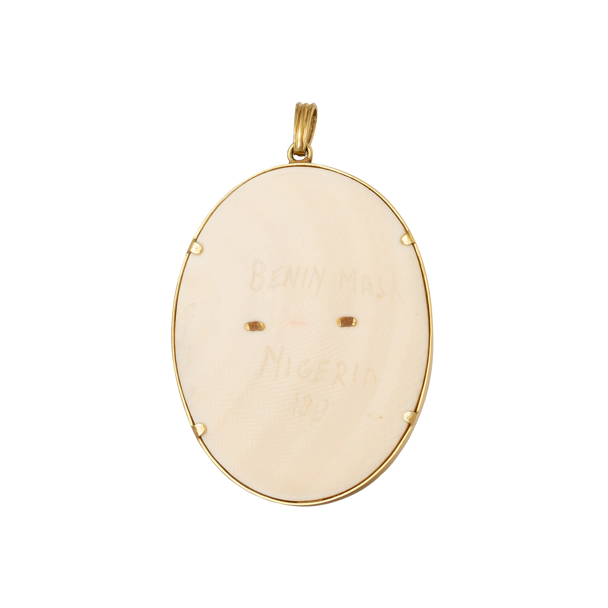 Bone & Gems Face Pendant - Antique & Vintage Jewelry - Charms & Pendants | Broken English Jewelry