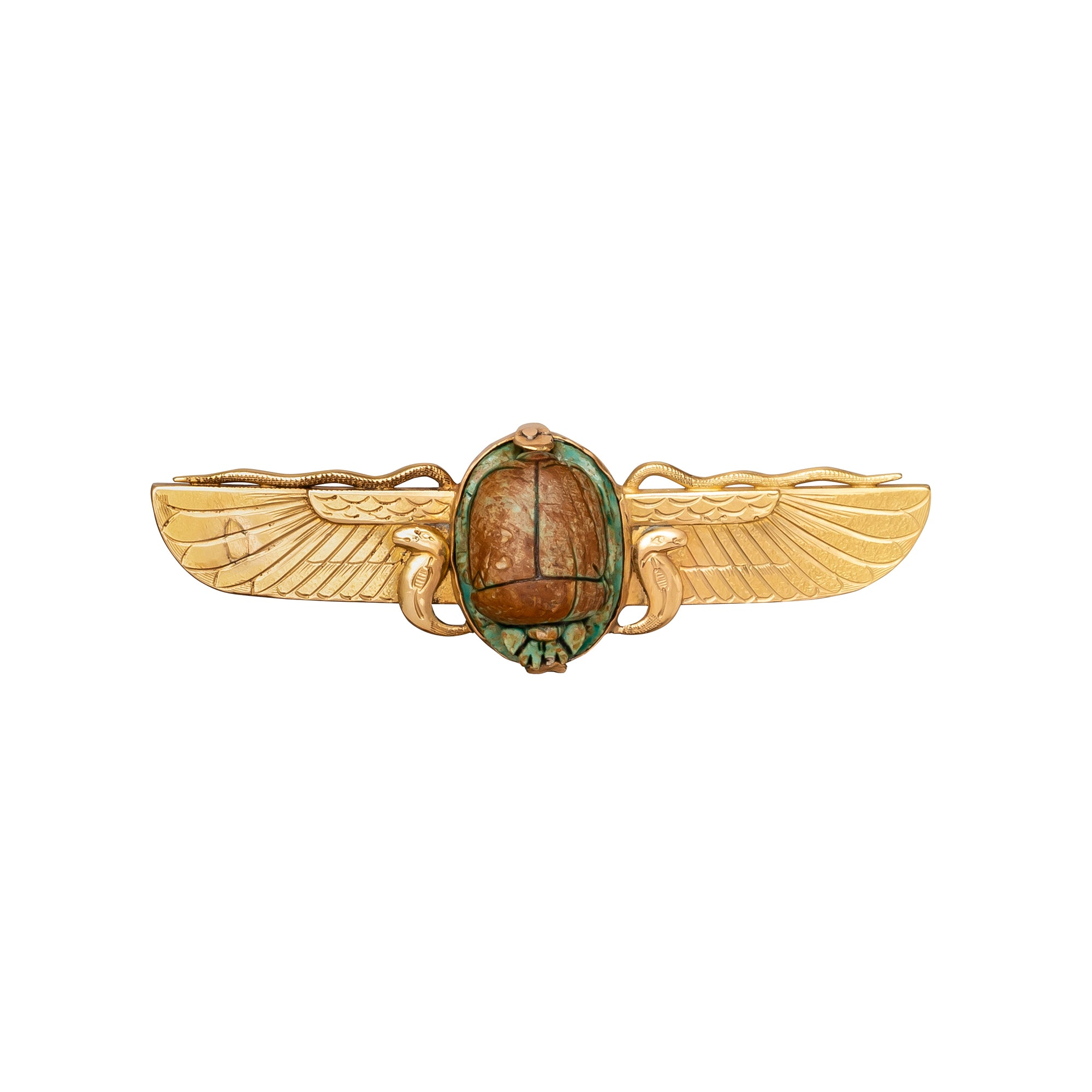 Winged Scarab Brooch - Antique & Vintage Jewelry - Charms & Pendants | Broken English Jewelry
