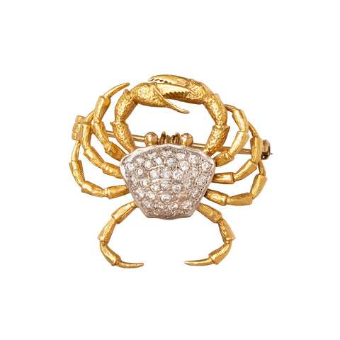 Crab Brooch - Antique & Vintage Jewelry - Charms & Pendants | Broken English Jewelry