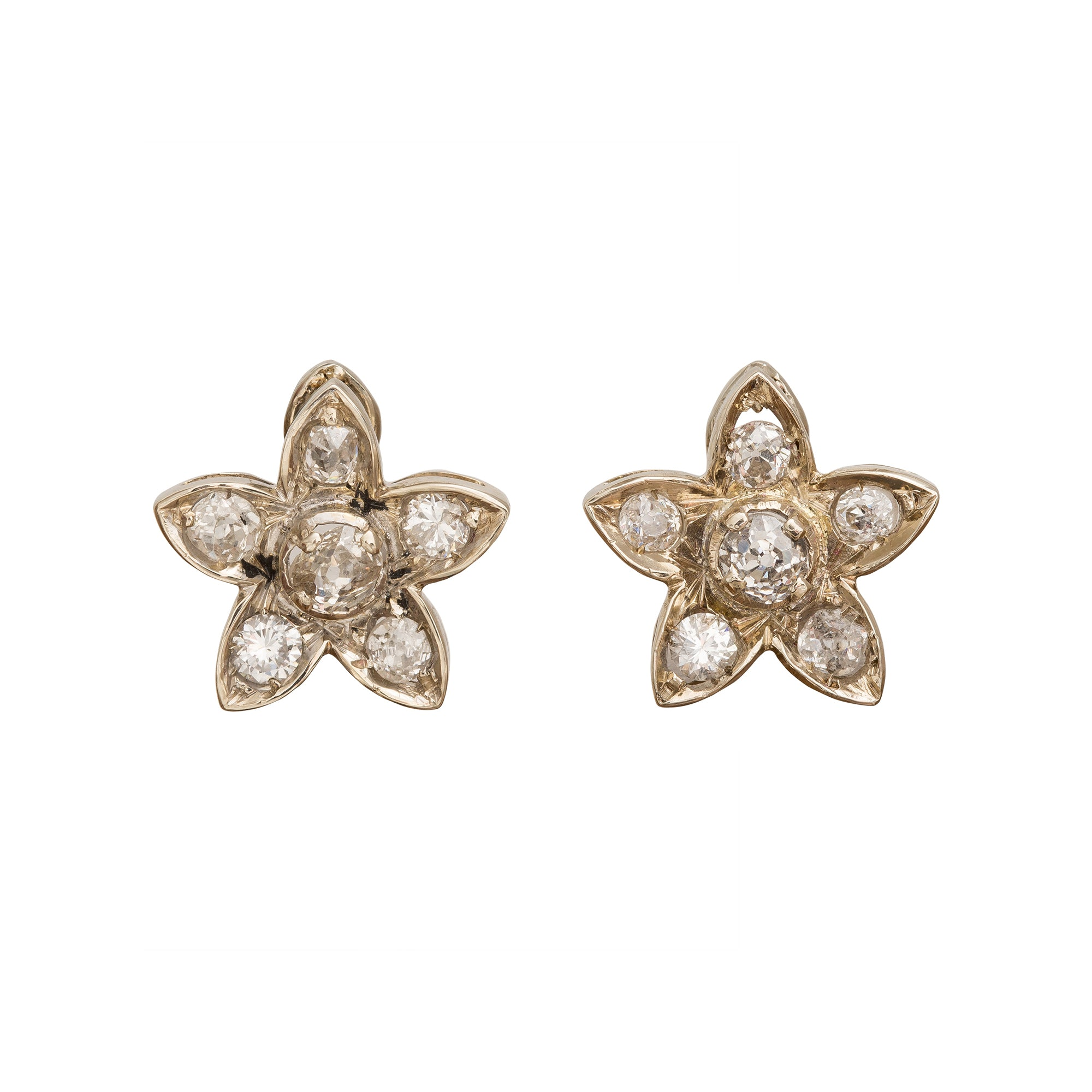 Diamond Star Earrings by Vintage Jewelry for Broken English Jewelry