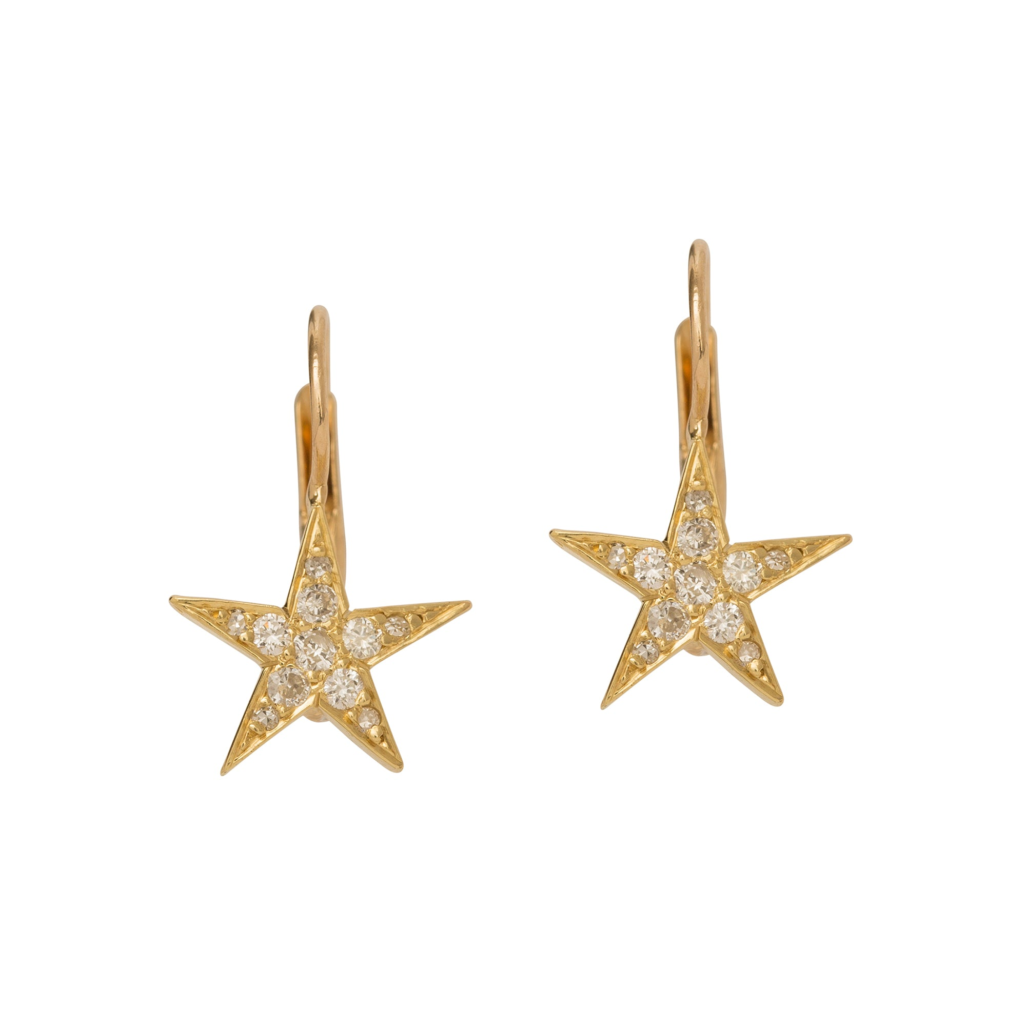 Estate Petite Diamond Star Earrings by Broken English Jewelry