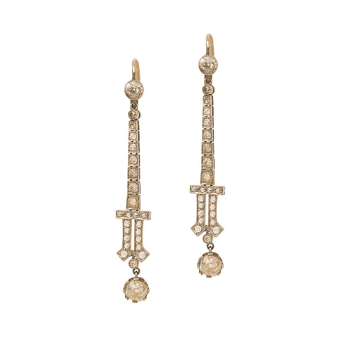 Platinum Diamond Earrings from Broken English Jewelry