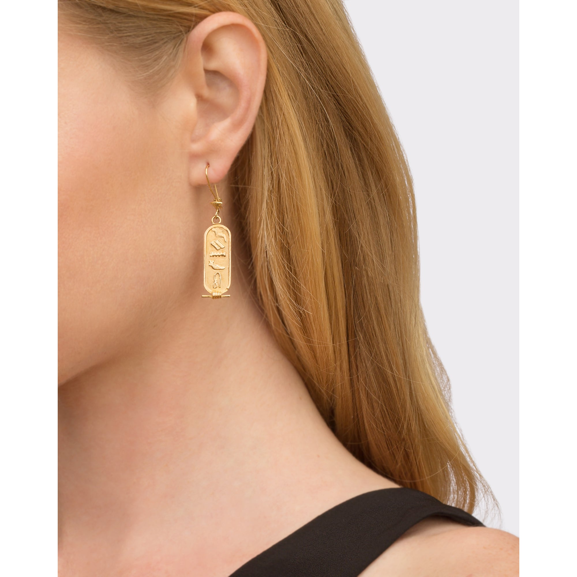 Egyptian Cartouche Earrings from Broken English Jewelry