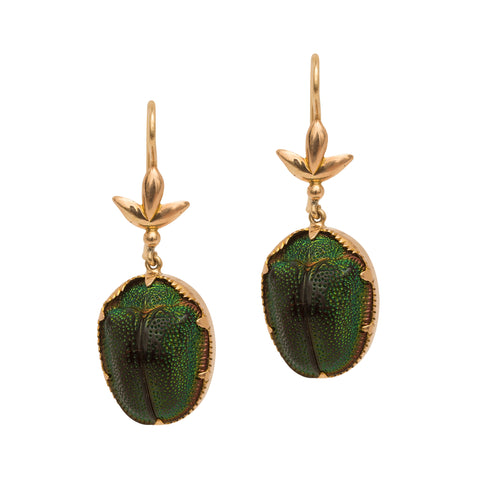 Beetle Earrings from Broken English Jewelry