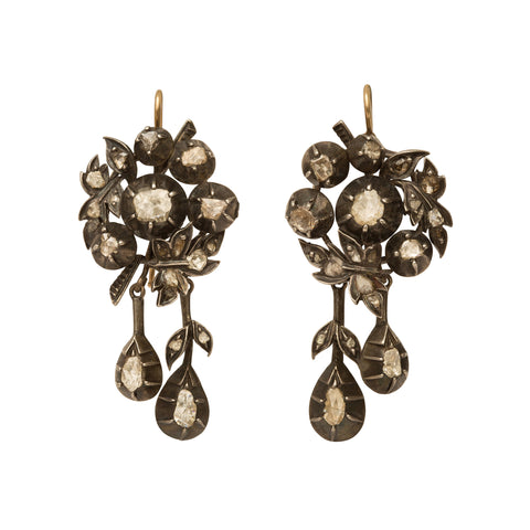 Floral Diamond Earrings from Broken English Jewelry