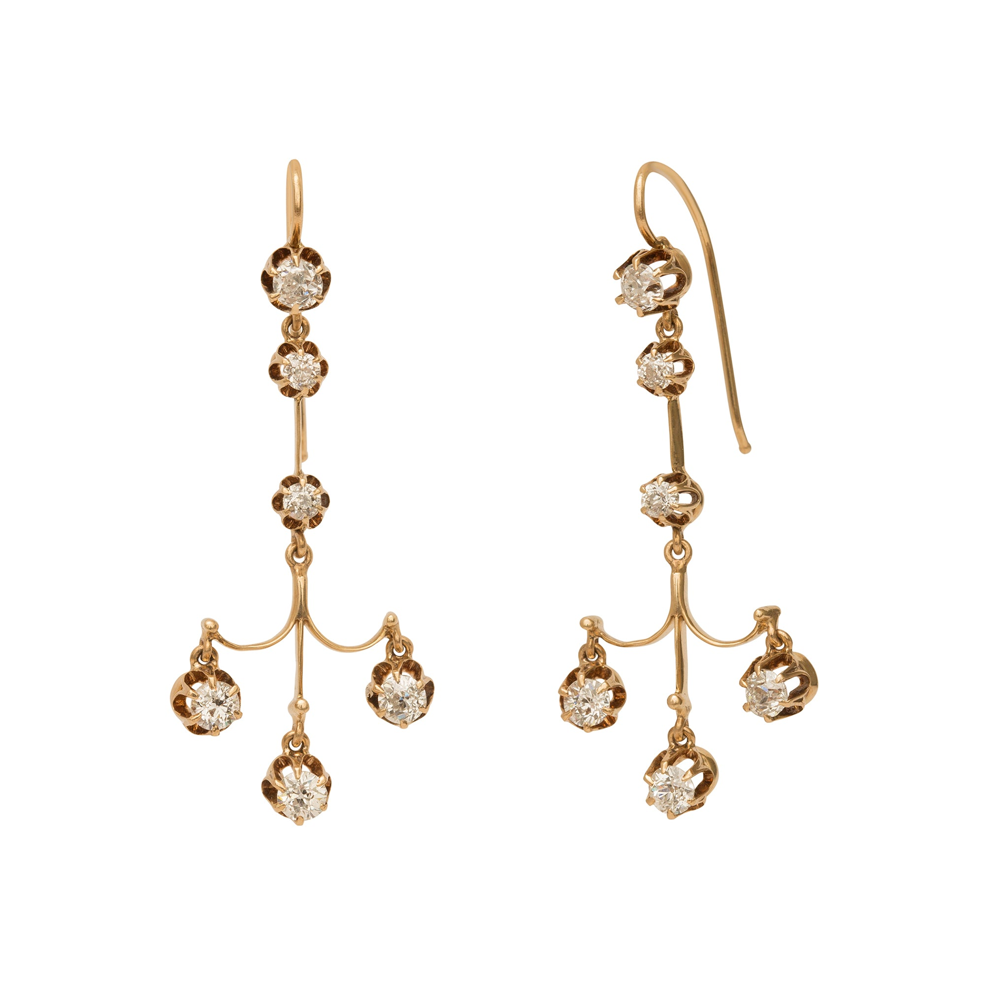 Diamond Chandelier Earrings from Broken English Jewelry