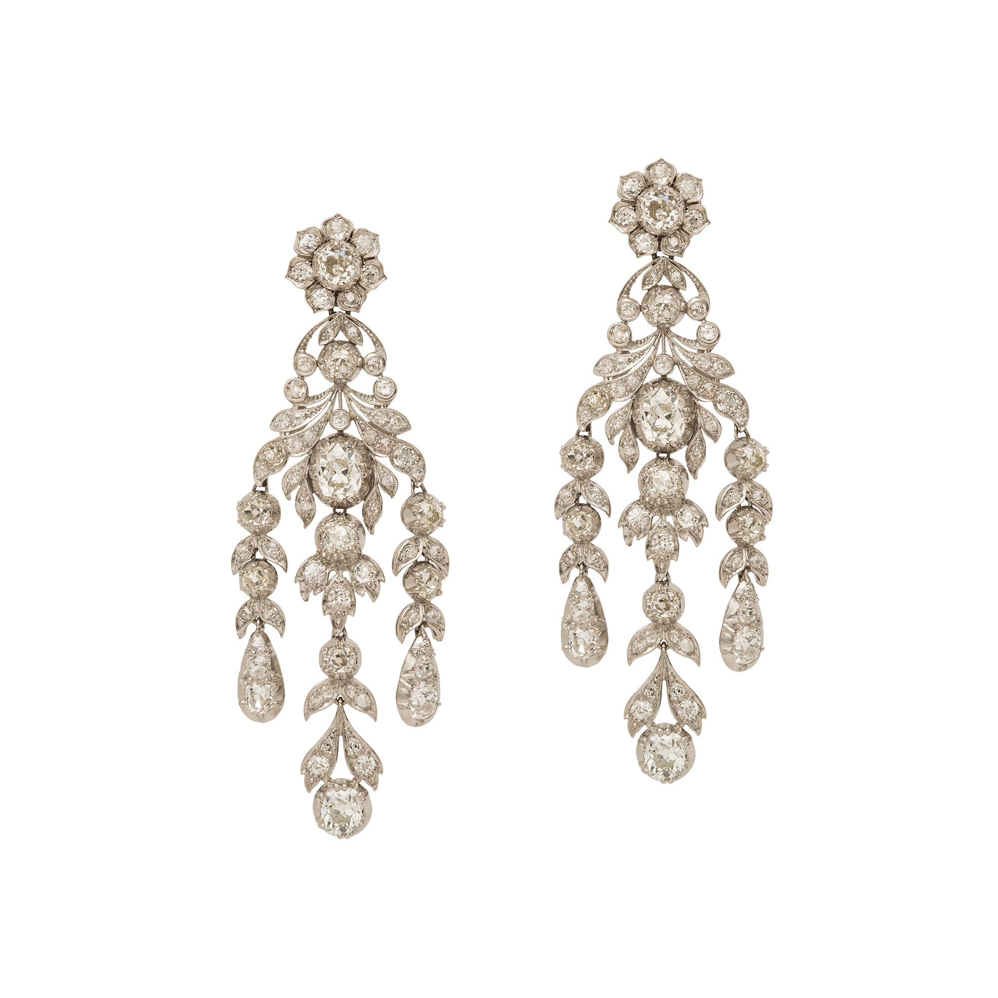 Victorian Platinum Earrings from Broken English Jewelry