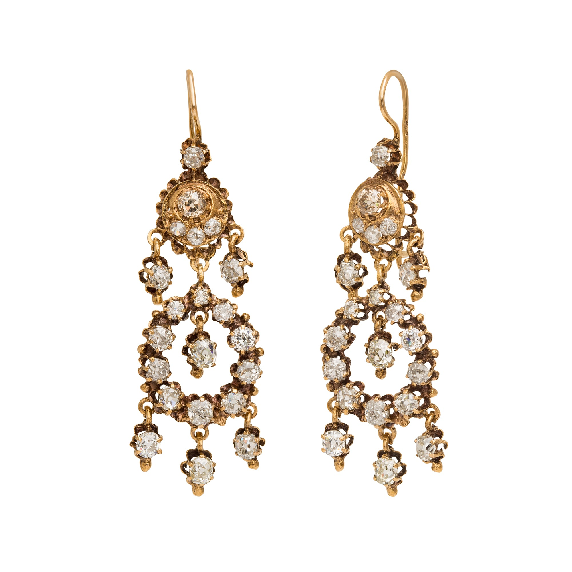 Hanging Diamond Earrings from Broken English Jewelry