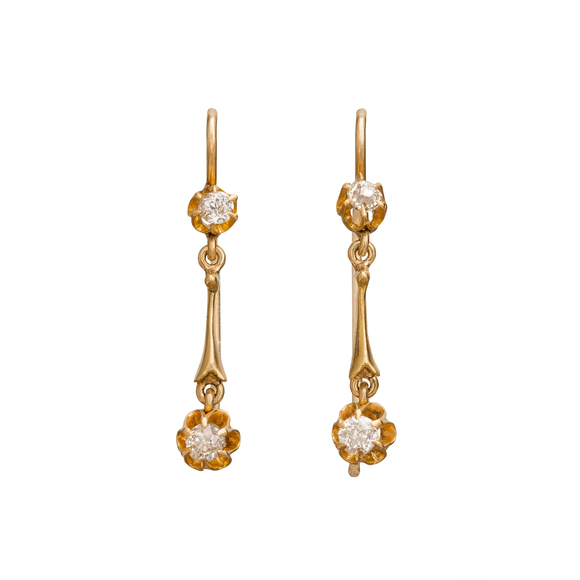 Buttercup Diamond Drop Earrings by Vintage Jewelry for Broken English Jewelry