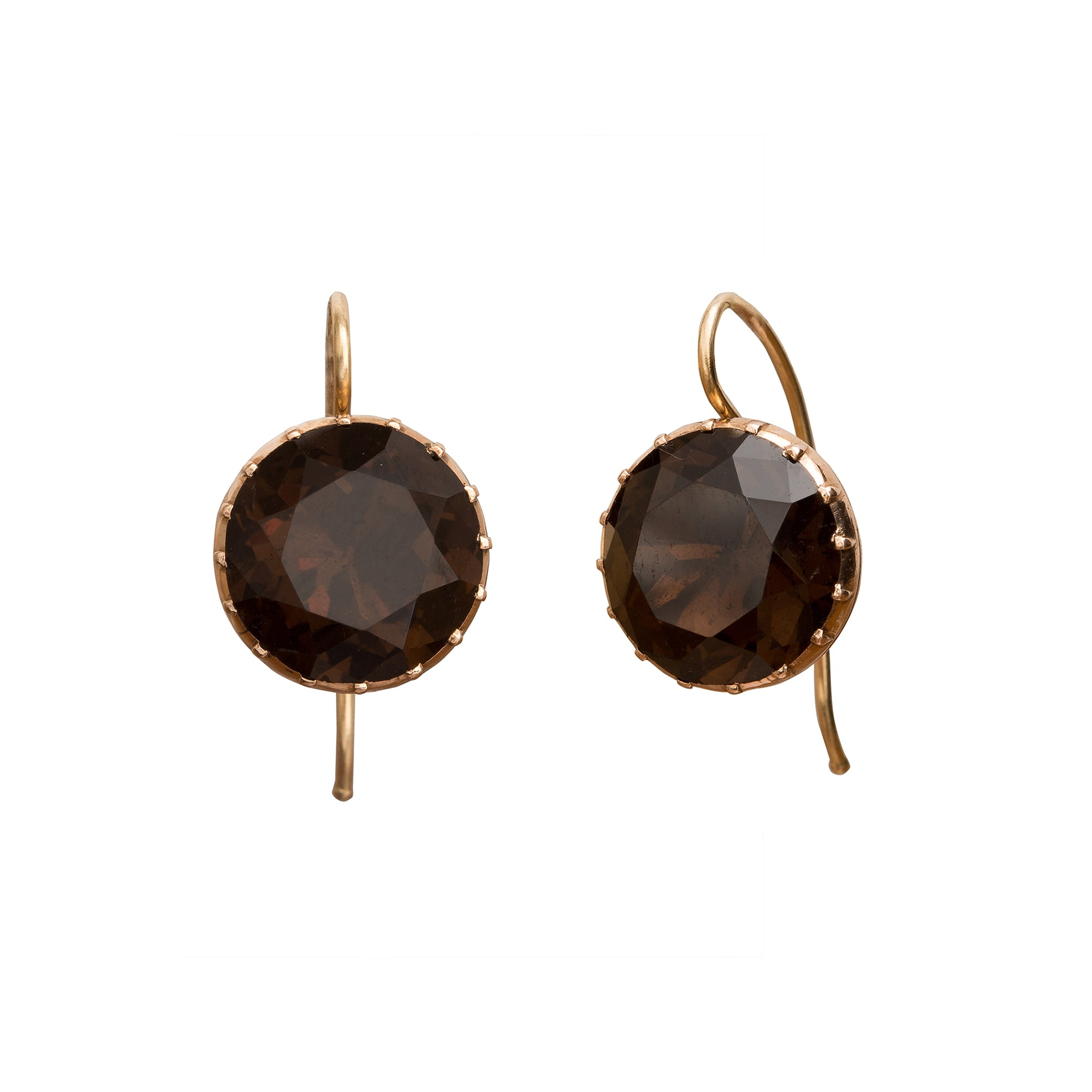 Smoky Quartz Earrings by Vintage Jewelry for Broken English Jewelry