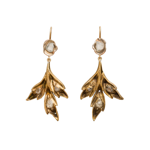 Trefoil Leaf Earrings by Vintage Jewelry for Broken English Jewelry
