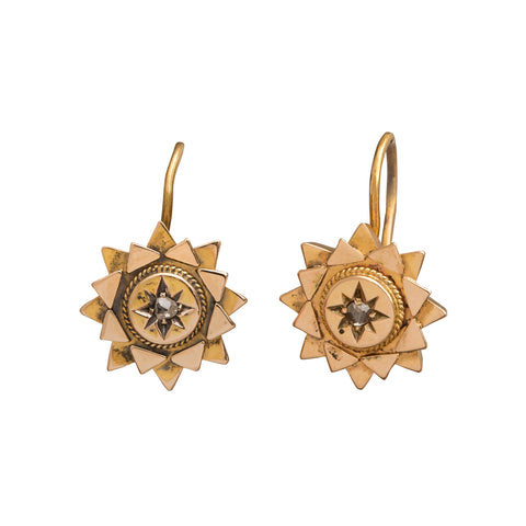 Double Star Earrings by Vintage Jewelry for Broken English Jewelry