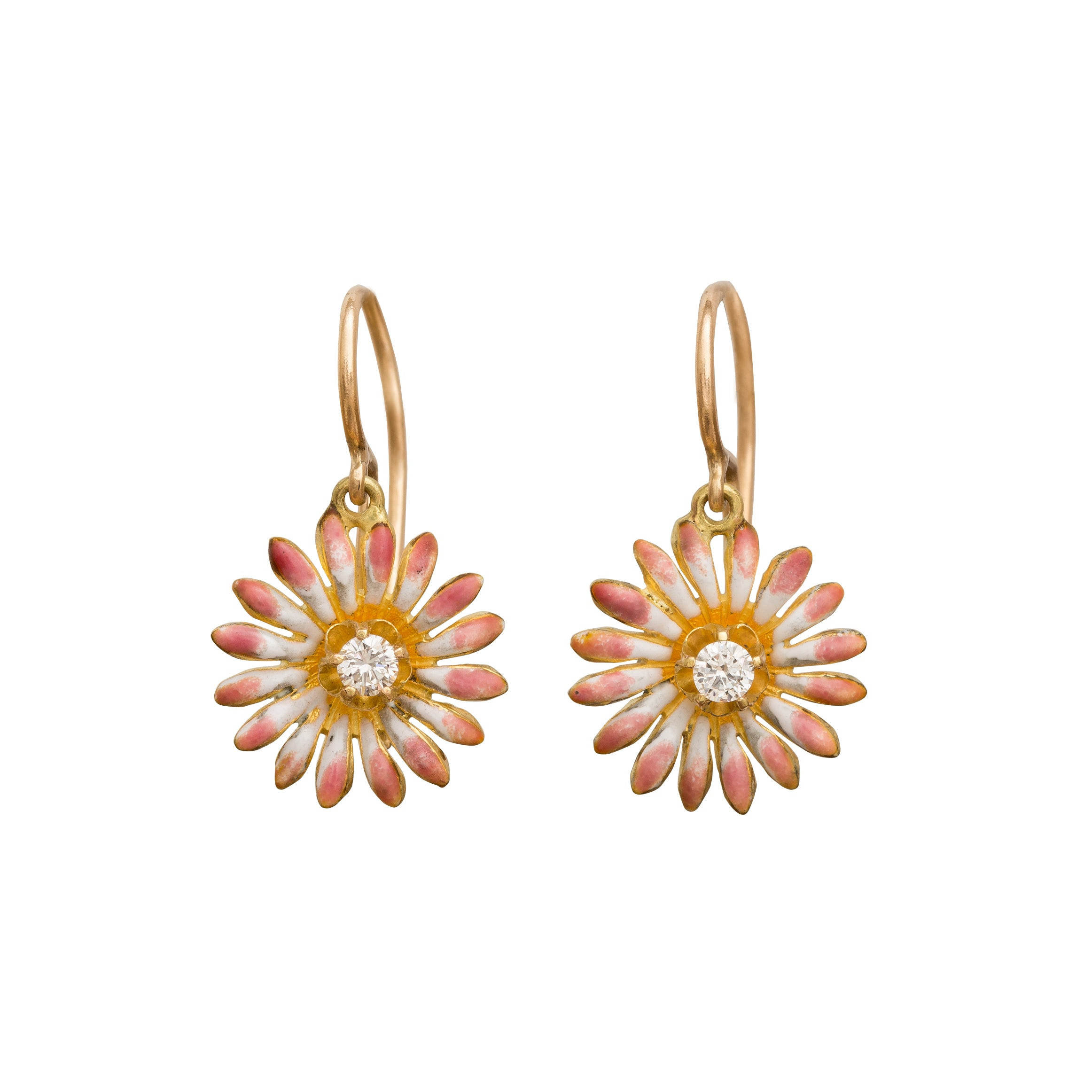 Pink Daisy Earrings by Vintage Jewelry for Broken English Jewelry