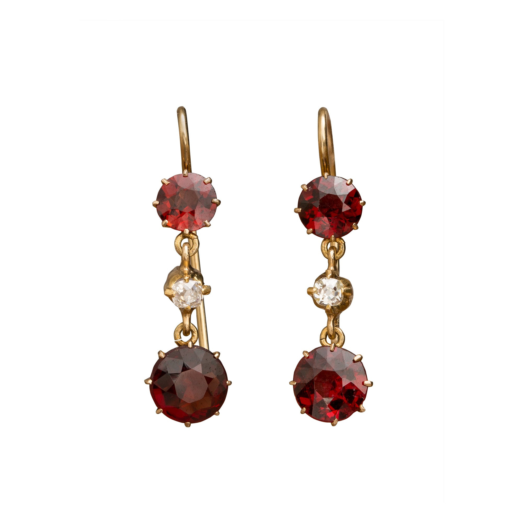 Garnet Drop Earrings by Vintage Jewelry for Broken English Jewelry