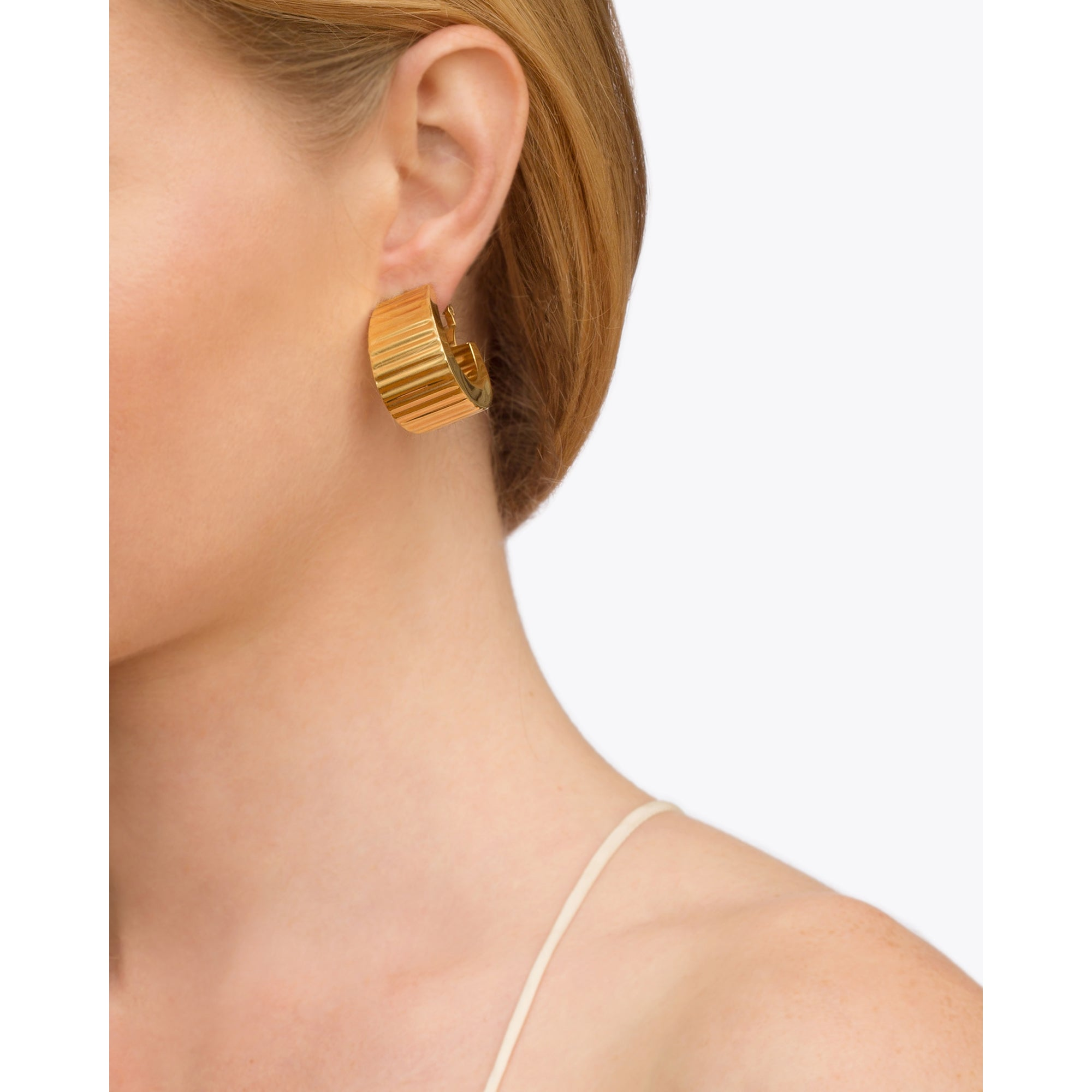 Gold Hoops from Broken English Jewelry
