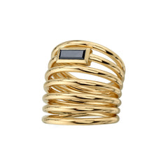 Helics Black Diamond 7 Loops Ring - Vram | Broken English Jewelry