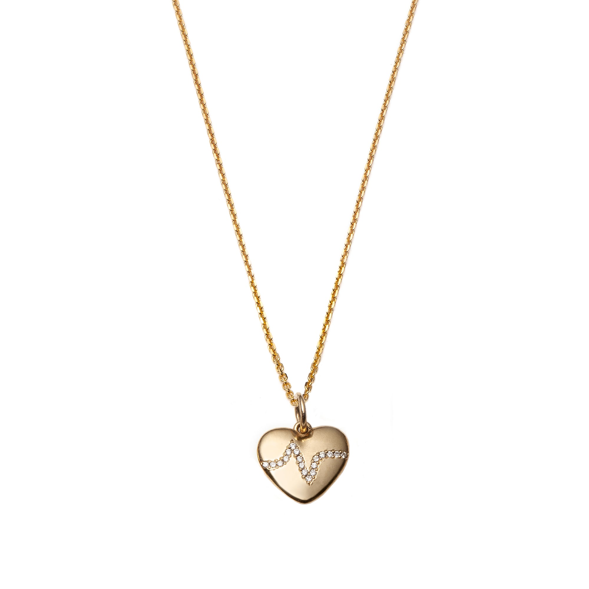 Heartbeat Pendant Necklace by With Love Darling for Broken English Jewelry
