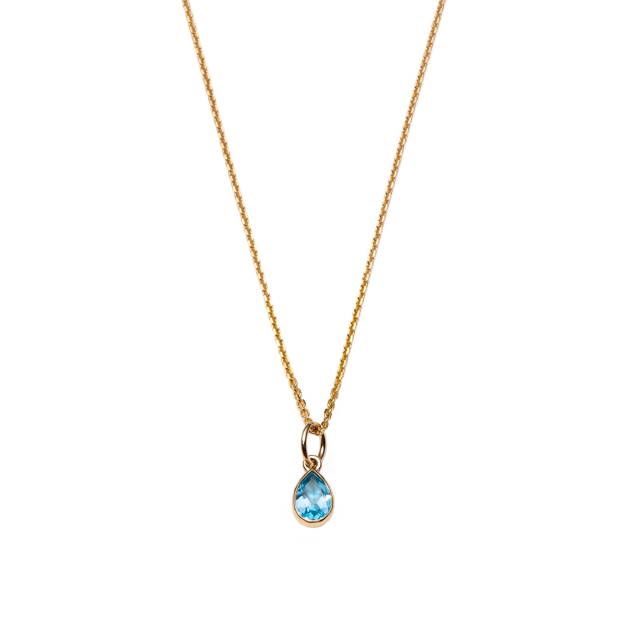 Water Drop Pendant Necklace by With Love Darling for Broken English Jewelry