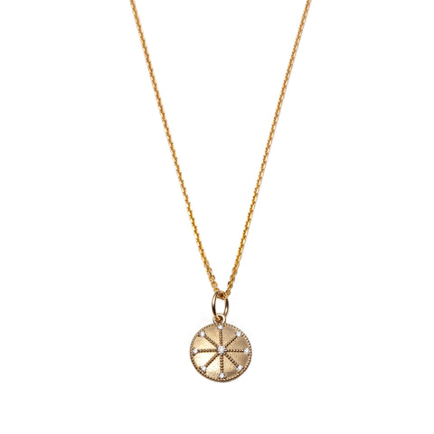 Energy Medallion Pendant Necklace by With Love Darling for Broken English Jewelry