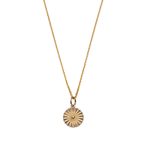 Wheel Pendant Necklace by With Love Darling for Broken English Jewelry
