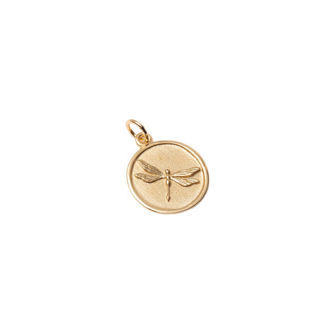 Dragonfly Medallion Necklace - With Love Darling - Necklaces | Broken English Jewelry