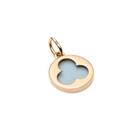 Blue Mosiac Trefoil Charm Necklace - With Love Darling - Necklaces | Broken English Jewelry