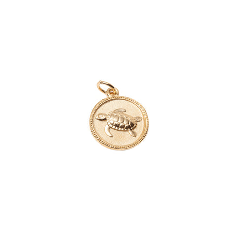 Turtle Medallion Necklace - With Love Darling - Necklaces | Broken English Jewelry