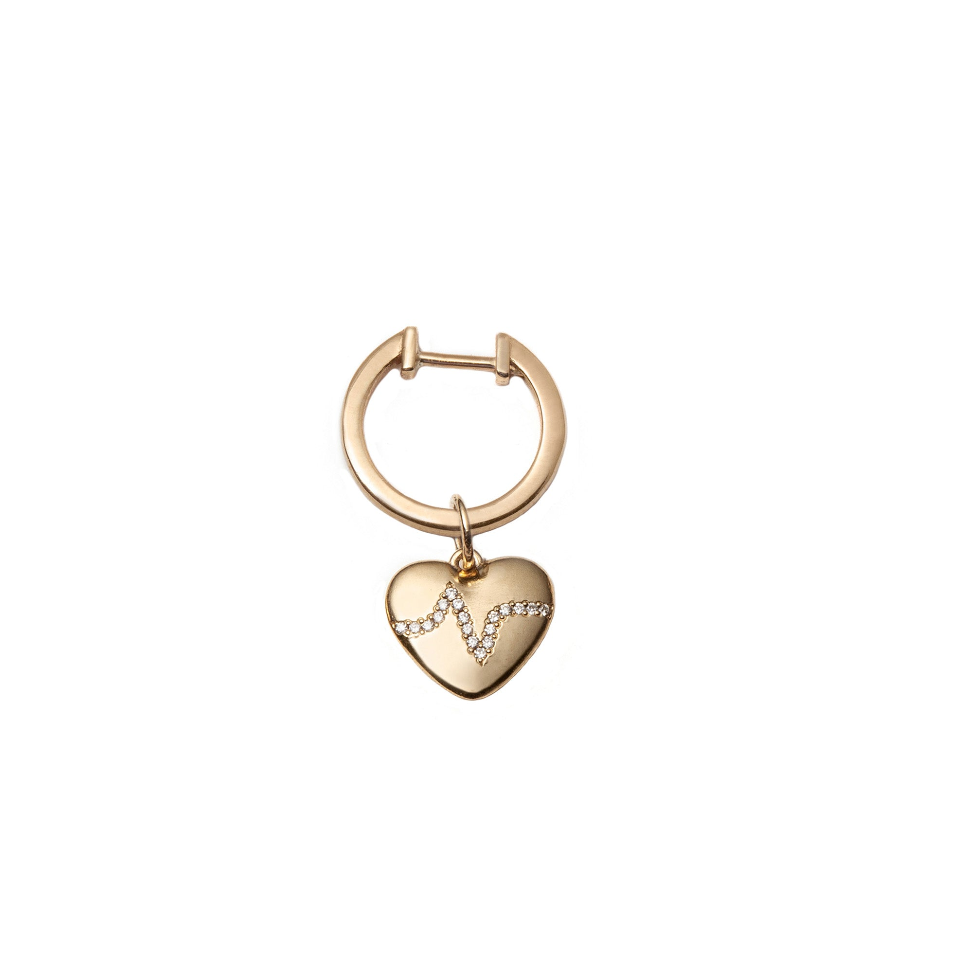 Heartbeat Ear Huggie by With Love Darling for Broken English Jewelry