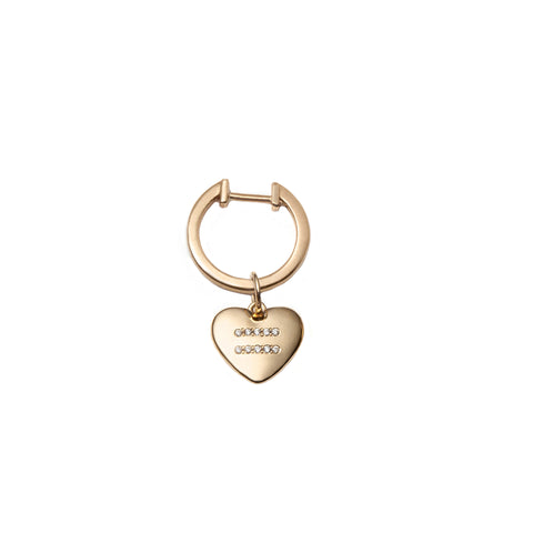 Equality Heart Ear Huggie by With Love Darling for Broken English Jewelry