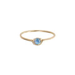 Gold Opal Single Nestled Opal Ring by Wwake for Broken English Jewelry