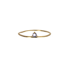 Gold Sapphire One Step Ring by Wwake for Broken English Jewelry