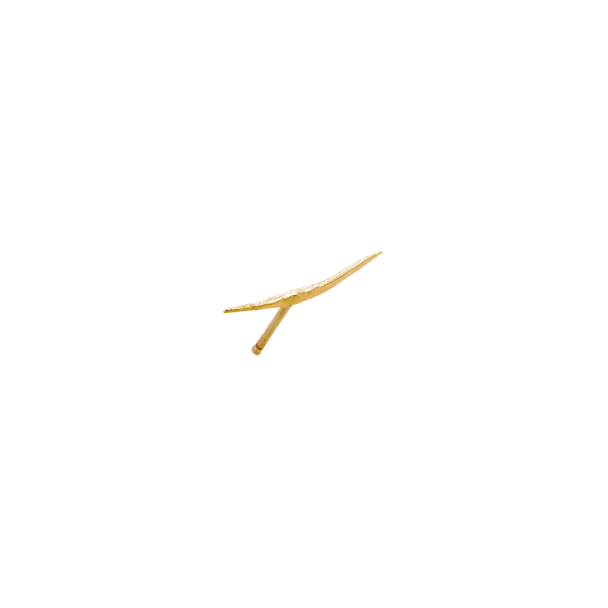 gold Stick Wisp Stud by Wwake for Broken English Jewelry