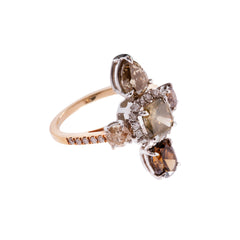 Gold Diamond Multi Stone Galaxy Ring by Xiao Wang for Broken English Jewelry