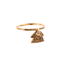 Gold Diamond Decorama Fanout Ring by Xiao Wang for Broken English Jewelry