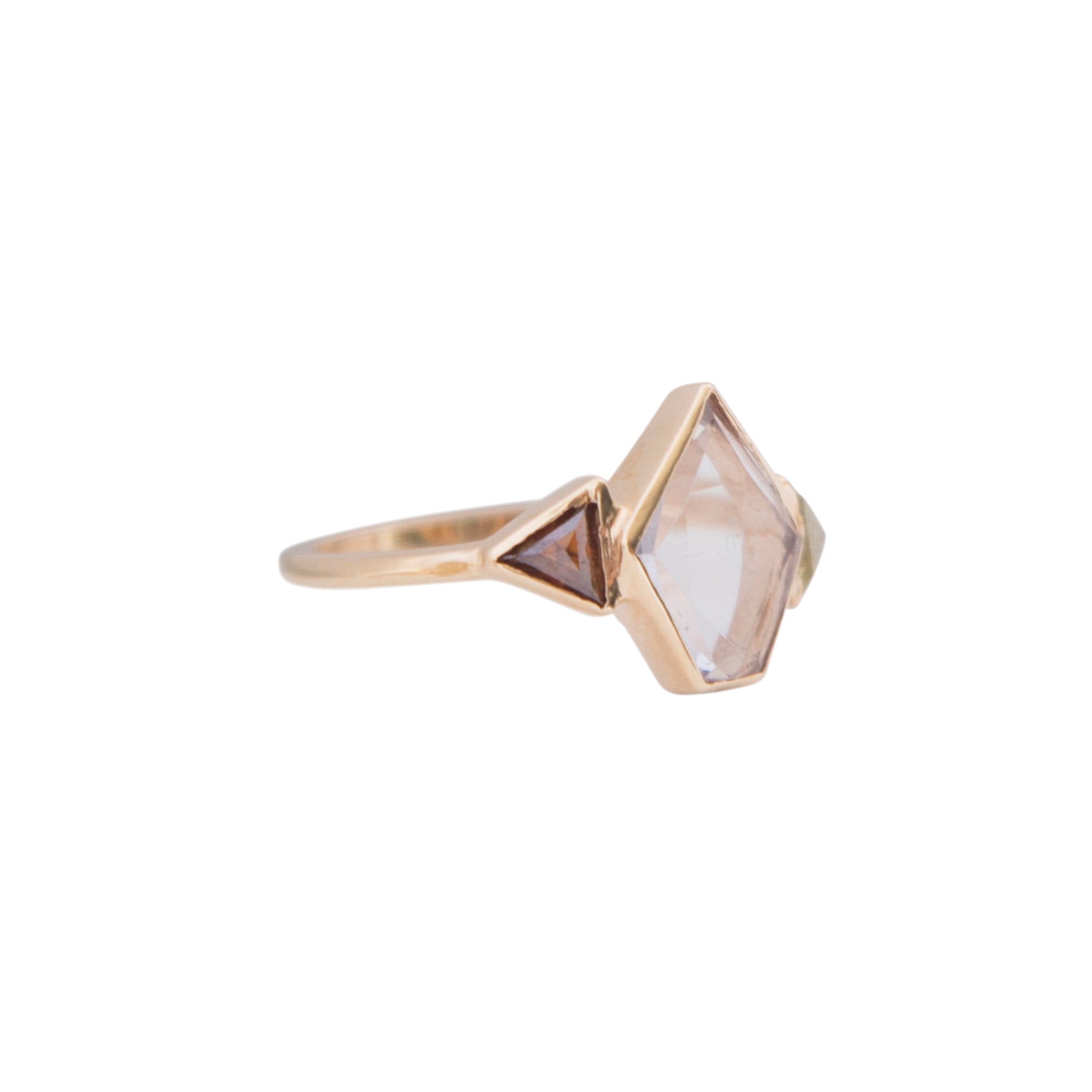 Gold Diamond Bridal Love Arrow Engagement Ring by Xiao Wang for Broken English Jewelry