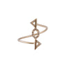 Gold Diamond Decorama Bypass Ring by Xiao Wang for Broken English Jewelry