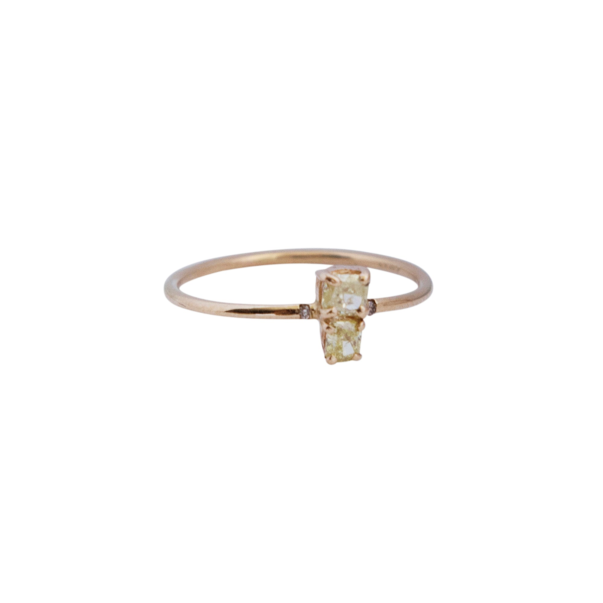 Gold Diamond Stardust Stacking Ring by Xiao Wang for Broken English Jewelry