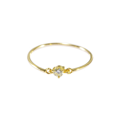 Canary Yellow Diamond Ring by Yi Collection for Broken English Jewelry