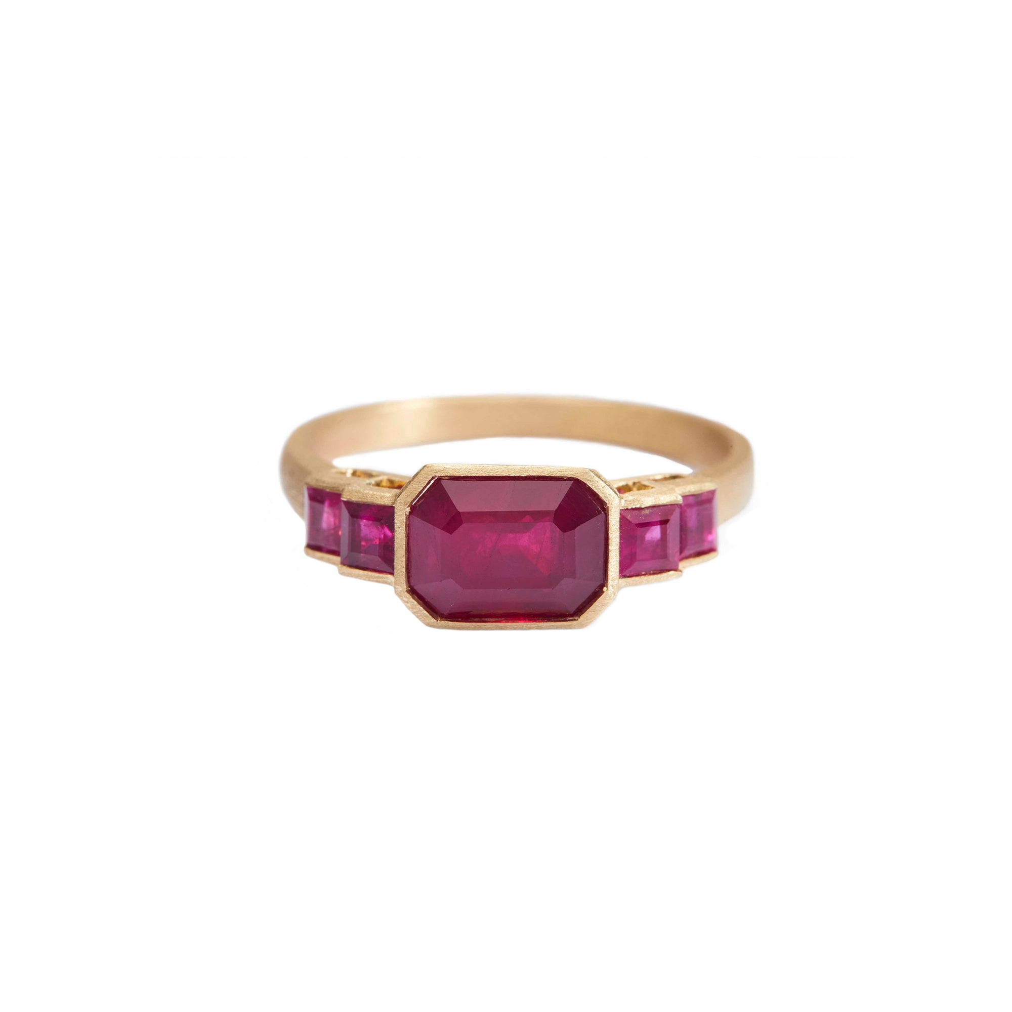 Five Rubies Ring by Yi Collection for Broken English Jewelry
