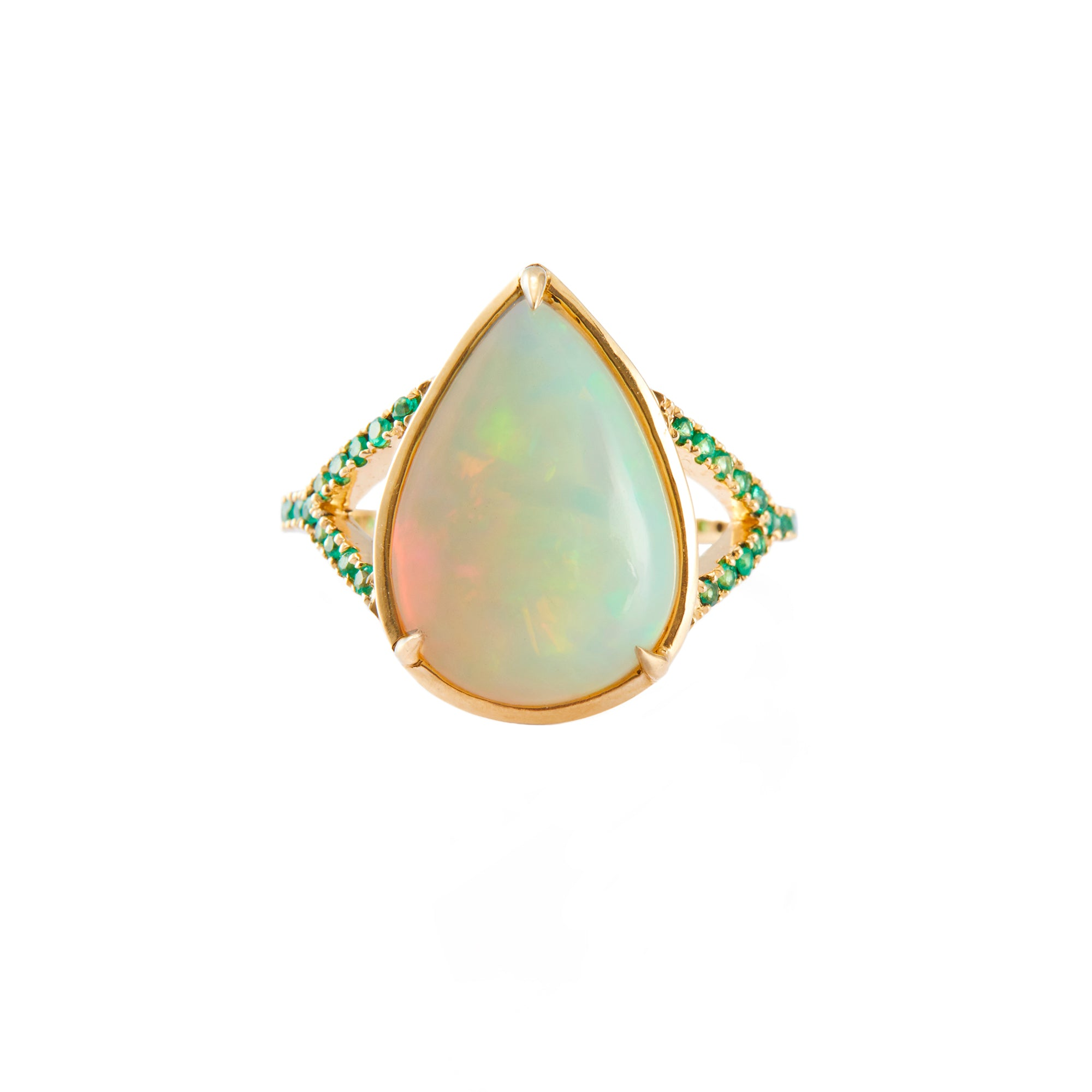 Opal & Emerald Ring - Yi Collection - Ring | Broken English Jewelry