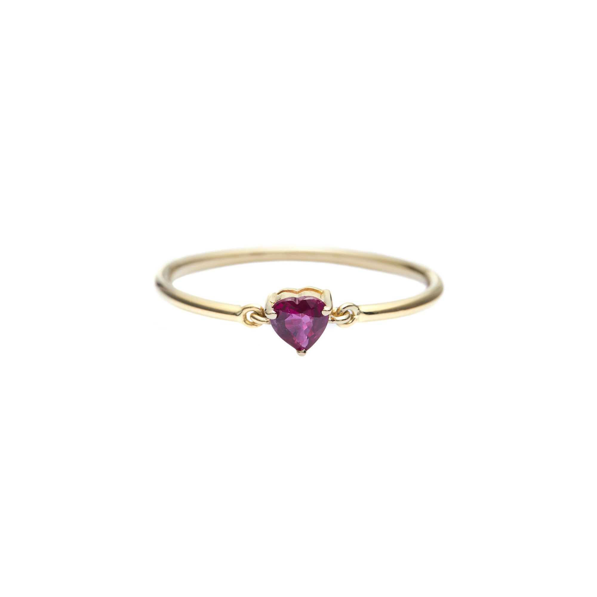 Ruby Heart Ring - Yi Collection - Ring | Broken English Jewelry