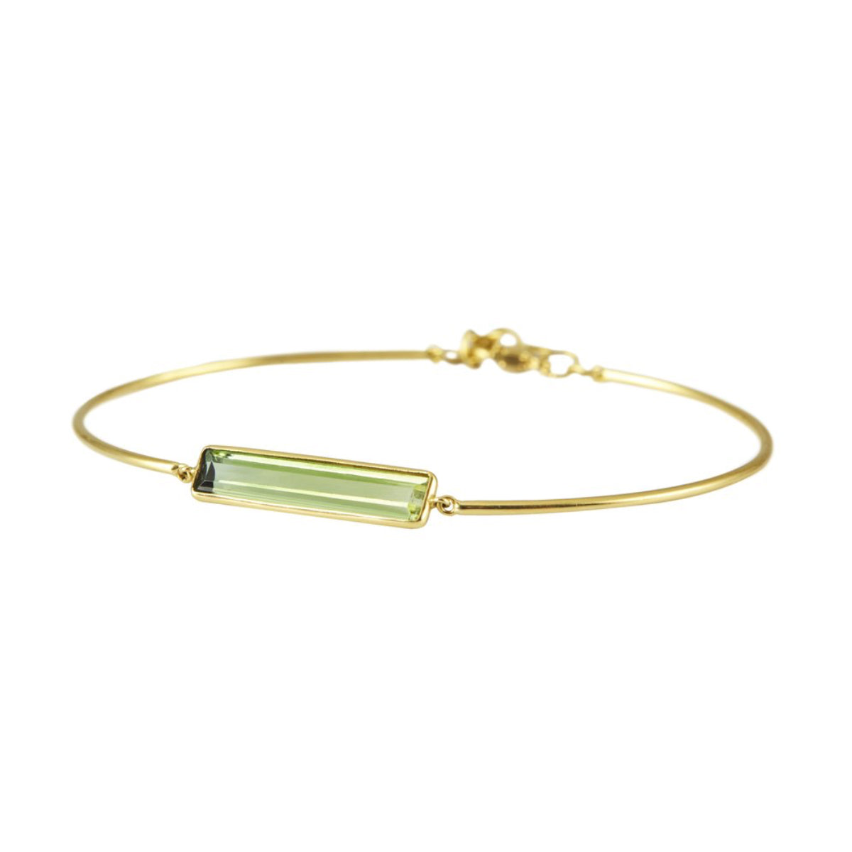 Green Tourmaline Bracelet by Yi Collection for Broken English Jewelry