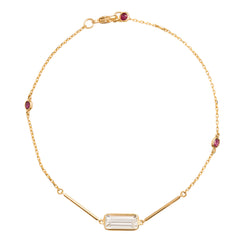 Topaz & Ruby Bracelet - Yi Collection - Bracelet | Broken English Jewelry