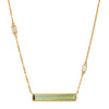 Tourmaline & Diamond Bar Necklace - Yi Collection - Necklace | Broken English Jewelry