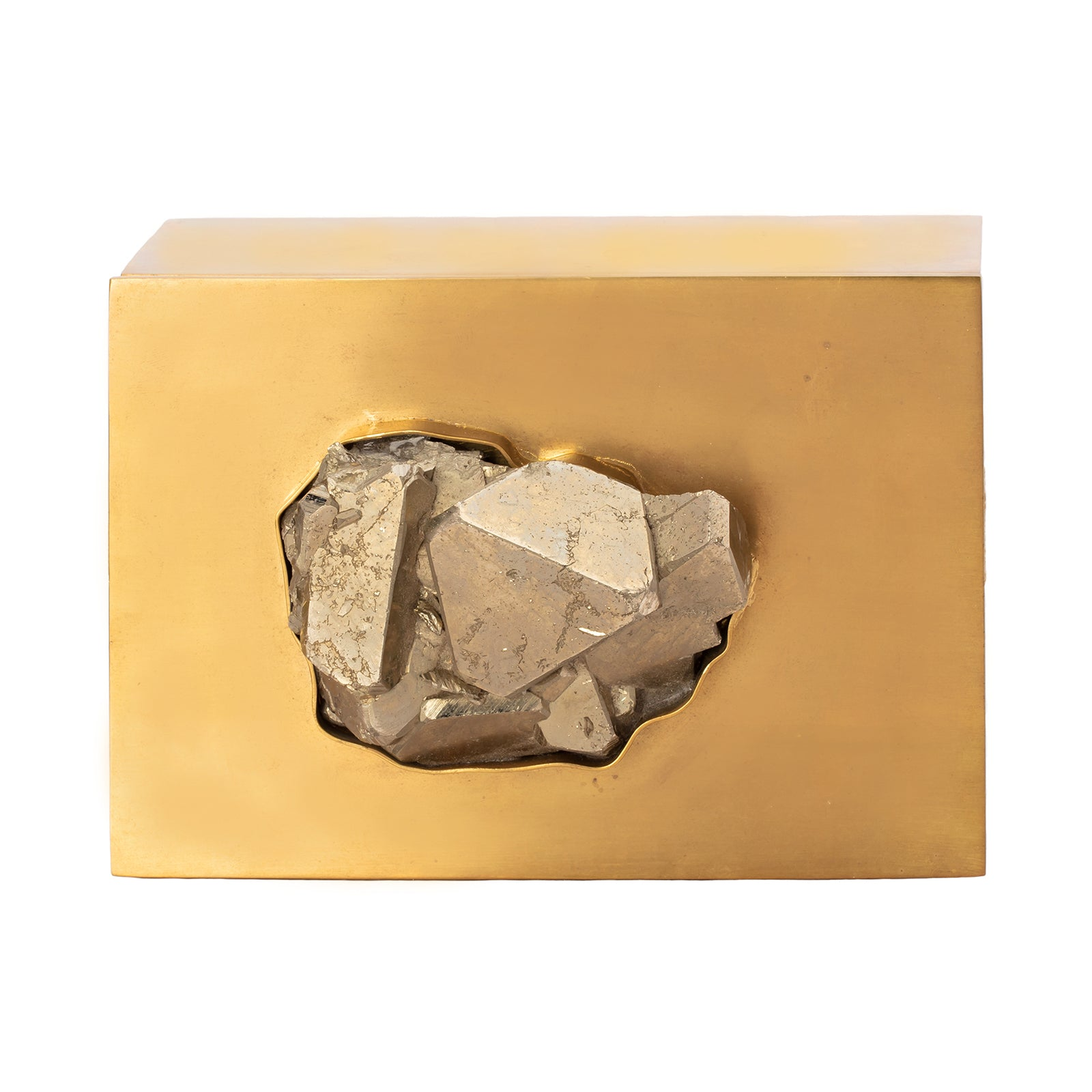 Large Brass & Pyrite Box