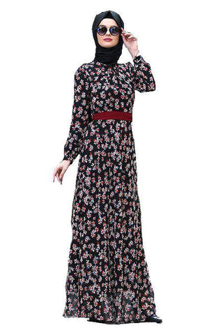 Flowers Bouquet Turkish Dress - Chaddors