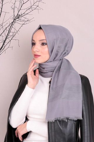 Mesh Solid Turkish Hijab + - Chaddors