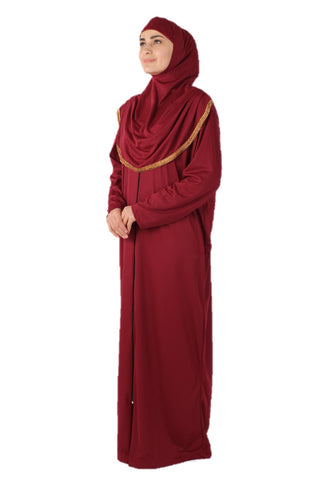 Rouge Zipper Turkish Prayer Dress