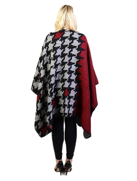 Red Houndstooth Pattern Cape