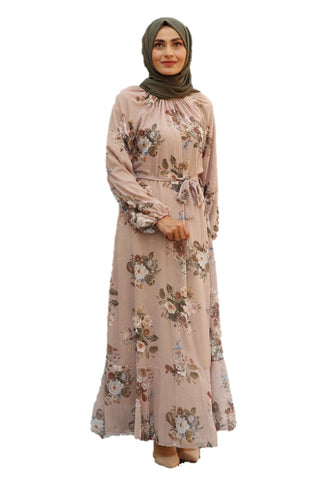 Beige Orchid Turkish Dress